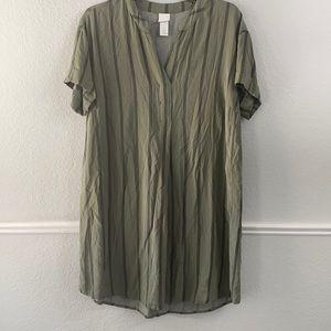 H&M Green Dress Size 8